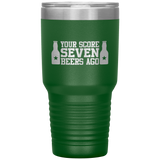 4th of July Tumbler Cup Beer Tumbler Travel 30 oz Insulated Tumbler For Men or Women