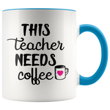 Coffee Mug Teacher Gift Ceramic accent coffee mugs  Teacher appreciation