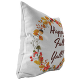 Fall Throw Pillow Cover Home Decor Couch Accent Decorative Pillow Happy Fall Yall!