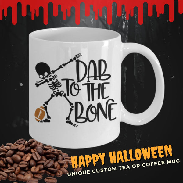 Dab to the Bone Halloween coffee mug tea cup funny Gothic Football Fans Ceramic coffee cup gift