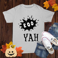 Halloween Funny T-shirt Costume Unisex Gothic shirt with sayings Boo Yah!