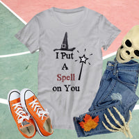 Funny Halloween T-shirt Custom Graphic Tee Gift for Women Halloween Shirt Witch tshirt