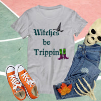 Witch T-Shirt Funny Women Shirt for Halloween Custom Gift for Her Halloween Shirt
