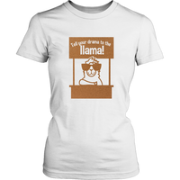 Funny Llama T-Shirt For Women Girls