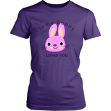 Easter   Purple  T-shirt-Some bunny loves you