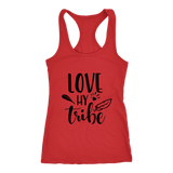 Love My Tribe unisex-shirt-dads-moms-sports-family racer back tank-summer top.