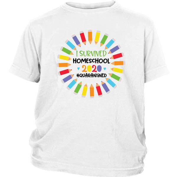 Homeschool Graduate Kids T-Shirt Graphic Tee For Boys Girls Quarantine 2020 Shirt