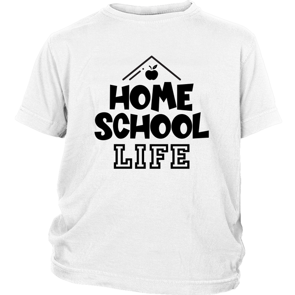Homeschool Life T-Shirt Graphic Tee For Boys Girls Virtual Learning
