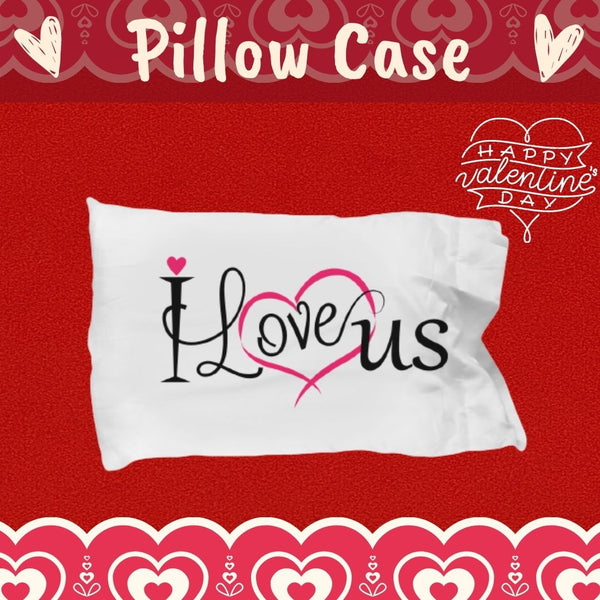 Couples pillowcase valentines anniversary birthday gift custom linen