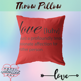 Valentines throw Pillow  Gift for Wife Husband Girlfriend Boyfriend  Valentine Home decor