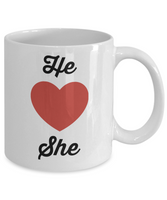 Novelty Coffee Mug-He Loves She-Gift Tea Cup Couples Valentines Anniversary Anytime Mug With Sayings