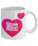 Coffee Mug-One Love 1 Heart One Destiny-Tea Cup Gift For Sweetheart Valentines Anniversary
