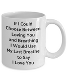 Novelty Coffee Mug-Loving You-Tea Cup Gift Sentiment Couples Valentines Anniversary
