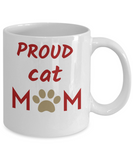 Cat Mug Cat mom gift  Cat Lover gift  Coffee mug Funny Mug Gift For Her Custom Mug