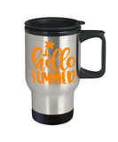 Funny travel Coffee Mug Hello summer Novelty tea cup gift seasonal insulated vacation cool