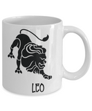 Zodiac coffee mug Leo tea cup gift astrology birthday signs mug with sayings