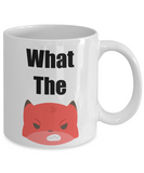 Funny Fox Mug- What The Fox -Novelty-tea cup gift-cute-mug with sayings-office-sarcastic