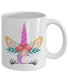 Unicorn coffee mug unicorn birthday gift tea cup face women funny custom unique mug