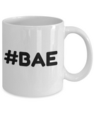 Novelty Coffee Mug-#Bae-Tea Cup Gift Sentiment Mug With Sayings Girlfriends Boyfriends