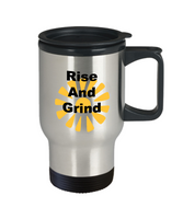 Rise And Grind Motivational Travel Coffee Mug Stainless Steel Cup Mugs With Sayings Friendship Gifts