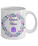 Queen Mom Novelty Coffee Mug Mother's Day Birthday Gifts Gifts For Mom Cool Printed Mug