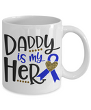 Funny Coffee Mug/ Daddy is my Hero /novelty tea cup gift dads father's day sentiment birthday