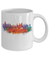 Chicago skyline watercolor coffee mug tea cup gift novelty  11 oz men women ceramic