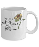 Sunflower Coffee Mug Tea Mug Wildflower Cup