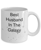 Novelty Coffee Mug-Best Husband In The Galaxy-Tea Cup Gift Anniversary Valentines Birthday