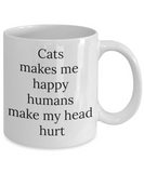 Cat lovers gift coffee mug cat mug cat mom dad gifts
