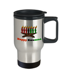 Novelty Travel Coffee Mug/Happy Kwanzaa/Travel Coffee Cup Gift Custom Celebration African American