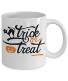 Trick or Treat Halloween coffee mug