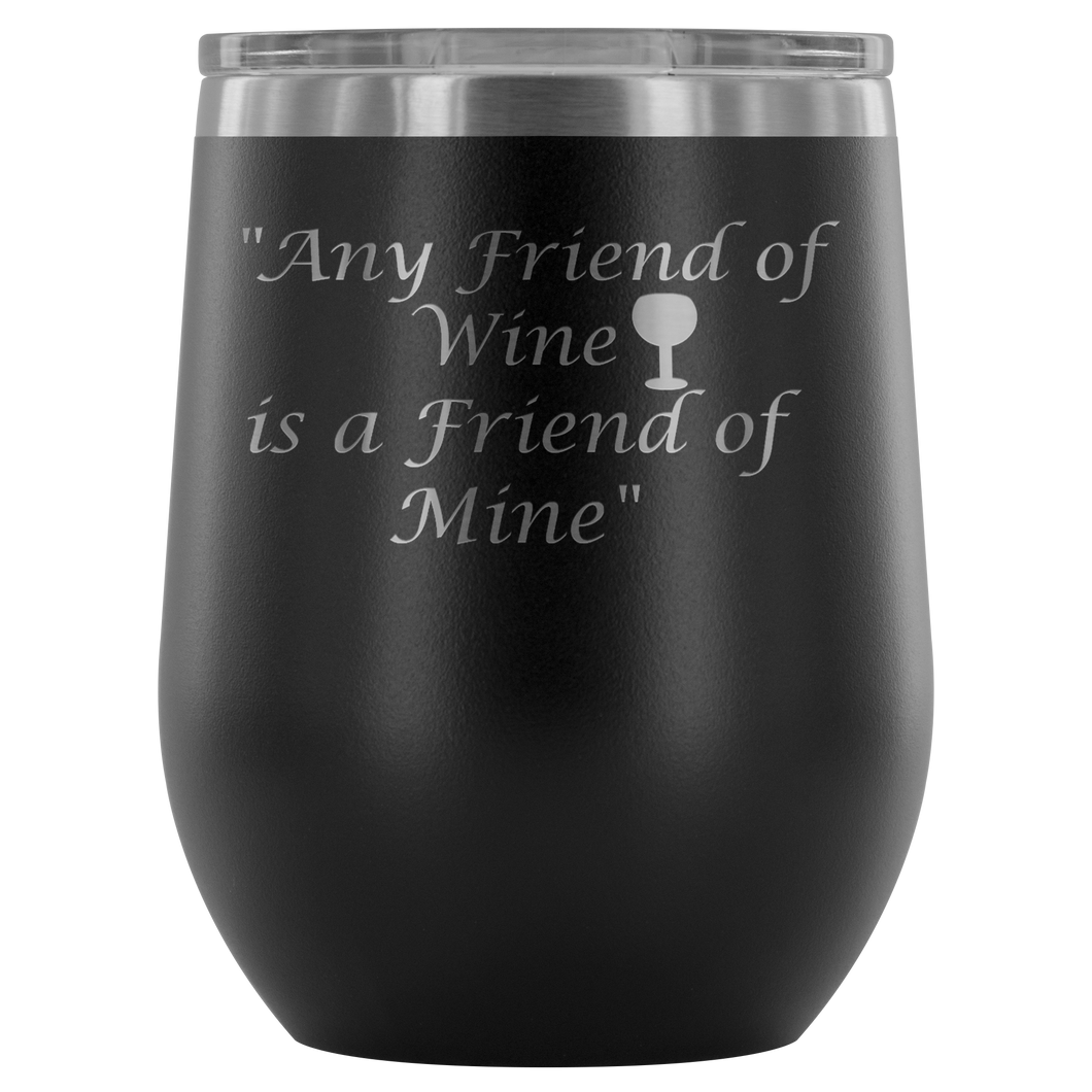 Stemless Wine Tumbler 12 Oz Stainless Steel Lovers Gift For Her Birthday Unique Custom