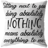 Throw Pillow Home decor Gift for Husband Wife Boyfriend Girlfriend Valentines Anniversary