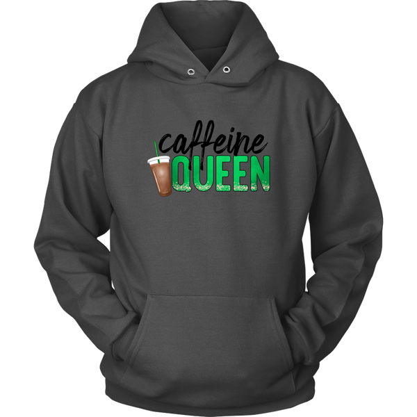 Hoodies For Women, Caffeine Queen Graphic Hoodie, Fall Clothing, Coffee Lovers Gift, Cute Hoodie