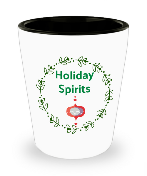 Christmas Shot Glass-Holiday Spirits-Ceramic Celebration Gift Shooter Women Men Friendship Gifts