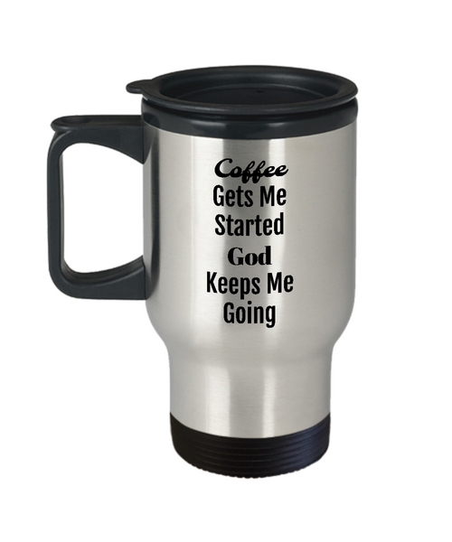 inspirational travel mug
