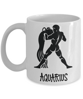Zodiac coffee mug Aquarius tea cup gift astrology birthday horoscope signs women men