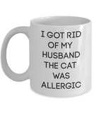 Funny Cat Coffee Mug Gift for Women Cat Lovers