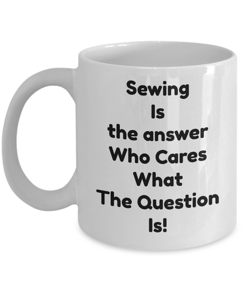 sewing theme mugs