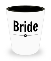 Bride Wedding shot glass Personalize Bride party favor bachelorette gift ceramic Bride to Be gift