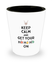 Christmas shot glass gift for her him Funny gift Party favor