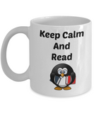 keep calm and read coffee mug