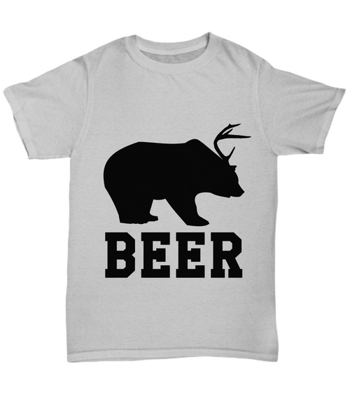 Beer novelty father's day gift Ash T-shirt