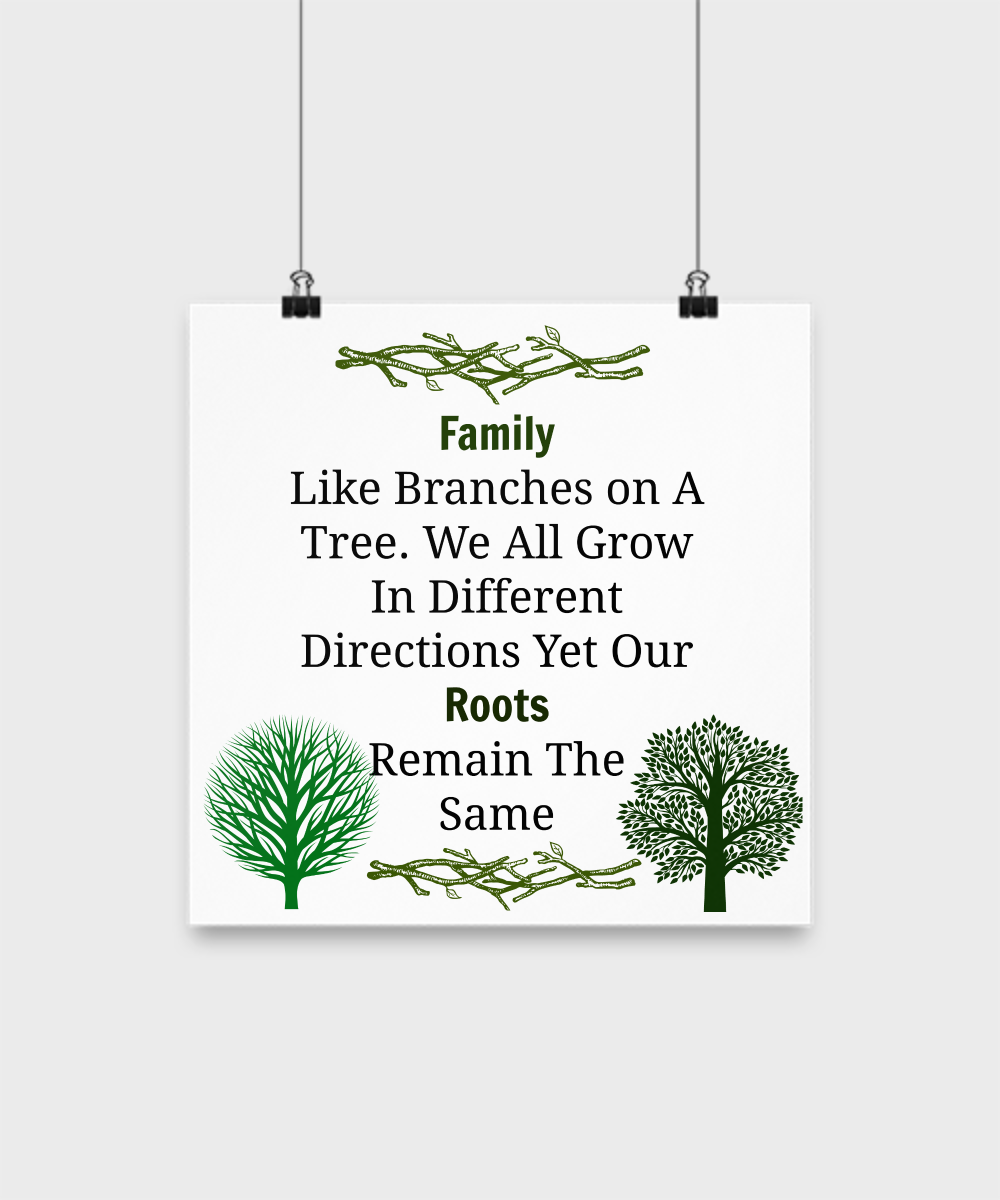 Family Like Branches On A Tree We All Grow In Different Directions Our