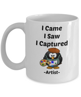 I Came I Saw I Captured Artist Novelty Coffee Mug Gifts For Artists Funny Mugs With Sayings
