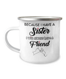 Sister Gift Camp Coffee Mug Best Friend Friendship
