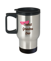 Coolest Grandma Ever Travel Coffee Mug Mother's Day Birthday Gift For Grandma Coffee Travel Cup Mug