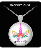 Unicorn pendant necklace gift for women birthday silver jewelry Unicorn lovers gift