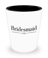Bridesmaid shot glass Personalize Bridesmaid party favor bachelorette gift ceramic Bridal Party gift